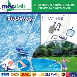 Kit di Manutenzione e Pulizia Piscina Con Aspiratore Bestway 58237