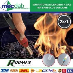 Soffiatore Accendino a Gas 2 in 1con Fiamma Regolabile per Barbecue  Ribimex SOFlame
