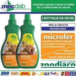 Concime Liquido Microfer 500 ML Professionale per Sviluppo Rigoglioso Vegetativo