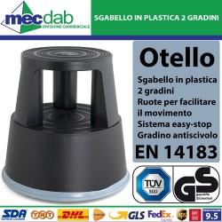 Sgabello In Plastica Con Ruote 2 Gradini Superfice Antiscivolo Colombo Otello