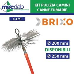 Kit Pulizia Camino e Canne Fumarie 8,4MT Vari Diametri
