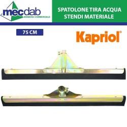 Spatolone Tira Acqua  in Doppia Gomma 75Cm Per Stesura Materiali e Pulizia Pavimento
