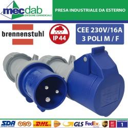 Presa CEE 230V / 16A 3 Poli...