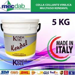 Collante Vinilico Trasparente Professionale Made in Italy 5KG Kenda Koll-Kendal