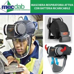 Maschera Protettiva Respiratore Attivo con Motore e Batterie Ricaricabili