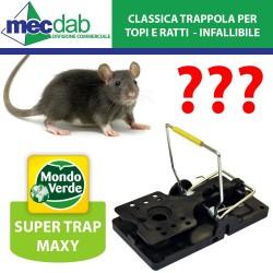 Trappola per Topi e Ratti Super Trap Maxy Mondo Verde