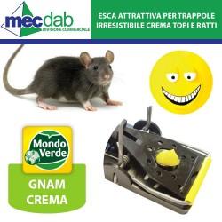 Esca Attrattiva per Trappole Topi e Ratti Senza Veleno 100Gr Gnam Crema Mondo Verde