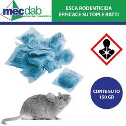Esca per Roditori come Topi e Ratti Veleno in Bustine Blu da 150Gr Rat Garden