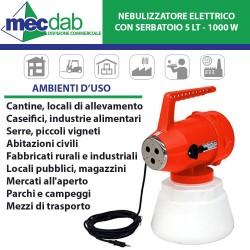 Nebulizzatore Elettrico ULV Con Serbatoio 5 LT - Potenza 1000W
