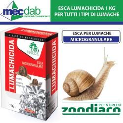 Esca Lumachicida Microgranulare 1Kg  Per Tutti i Tipi di Lumache Oro verde