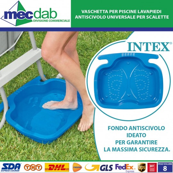Vaschetta lavapiedi Blu Antiscivolo per Piscina Intex 29080