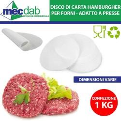 Disco Carta da Forno Per Hamburgher Antiaderente Confezione da 1 KG Varie Misure Disponibili