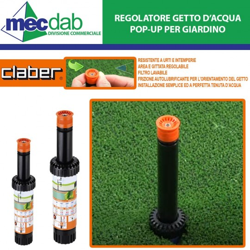 "Irrigatore a Scomparsa Da Giardino Pop-Up 0° / 350° - 2"" Getto Regolabile Varie Misure"