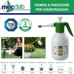 Pompa a Pressione 2 LT Nebulizzatore Professionale Di Martino Spruzzo Per Piante