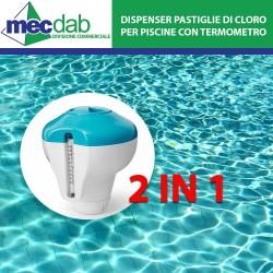Dispenser di Cloro Per Piscine con Termometro Misura Temperatura INTEX