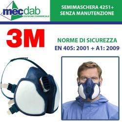 Maschera Protettiva Per Gas Vapori E Polveri 3M FFA1P2 R D