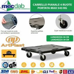 Carrello Pianale 4 Ruote 38...