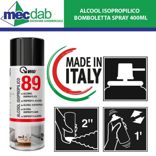 Alcool Isopropilico Bomboletta Spray 250ML  QVMD 89
